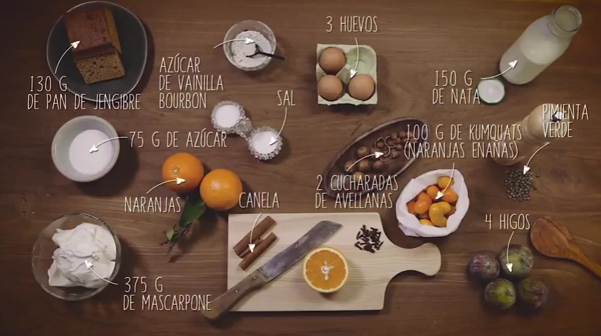Ingredientes tiramisú